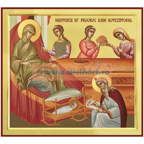 Icoana Nasterea Sfantului Prooroc Ioan Botezatorul 2