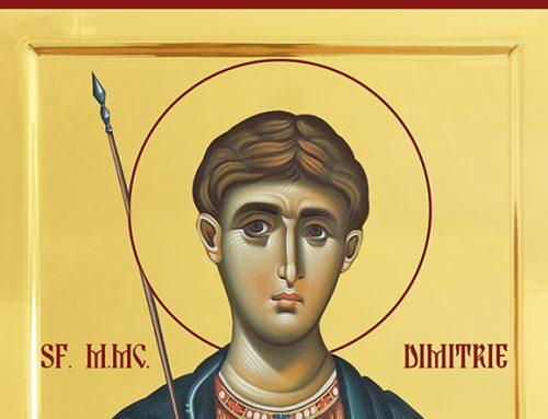 Icoana Sfantul Dimitrie Izvoratorul de Mir